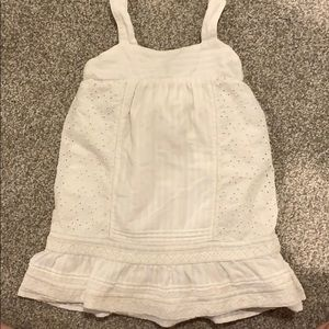 GAP white eyelet dress -2T